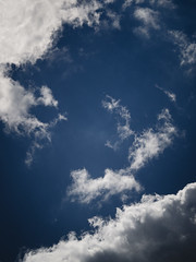 Sky fragment | P2250015 (mkreibohm) Tags: sky blue clouds formations shapes nature minimal minimalism summer