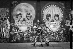 Watching (DarrenCowley) Tags: bricklane streetphotography graffiti streetart monochrome blackandwhite candid london shoreditch