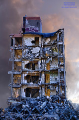 Your Face Can Tell The Future (DetroitDerek Photography ( ALL RIGHTS RESERVED )) Tags: allrightsreserved 313 detroit motown ruin decay urban urbandecay collapse apartment building demolish demolition hdr 3exp archive midwest usa america detroitderek warrensky composite august 2018 michigan motorcity graffiti flaminglips