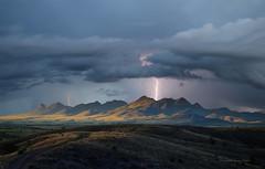 The Mustangs (slsjourneys) Tags: roads arizona lightning