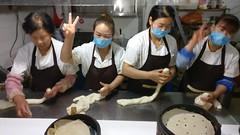 Making breakfast buns, Zhangye (JonathanGray) Tags: china zhangye food people bread