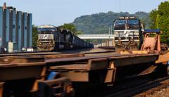 CP-WING and an 80MAC (benpsut) Tags: 7201 emd emdsd80mac 80mac coal coalempty empties trains railroad cpwing wing ns9490 sunset sweeteveninglight