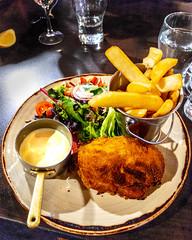 Chicken Hollandaise (garydlum) Tags: chicken chickenbreast hotchips hollandaisesauce canberra australiancapitalterritory australia au