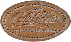 Elongated penny Enjoy California - It's the real thing! (Coca cola) (adanisherrorcollector) Tags: elongated penny enjoy california its real thing coca cola