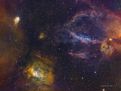 Bubble Nebula (NGC7635) and west surroundings in HSTrgb (Carballada) Tags: astronomy deep space astro celestron zwo as1600mmc skywatcher ts sky qhy qhy5iii174 pixinsight galaxy galaxies astrophoto deepspace telekopeservice narrowband hstpalette mach1 astrophysics astrophotography astrometrydotnet:id=nova2772879 astrometrydotnet:status=solved