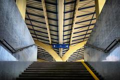 Platform (Siuloon) Tags: peron platform architektura architettura architecture linia kształt stacja station warszawa warsaw schody stairs