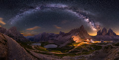 Milky Way Panorama (19MilkyWay89) Tags: landscape milky way panorama dolomites sky night dark darkness italy clear himmel sterne