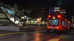DSC_0608 (afagen) Tags: sandiego california gaslampquarter night sandiegotrolley greenline trolley mts train sycuangreenline transit lightrail