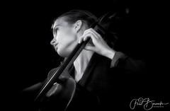 Irene Enzlin on Cello, during Uitgast 2018 Delta Piano Trio (fredbervoets.com) Tags: muziekinstrument celliste muziek klassieke klassiek deltatrio ireneenzlin classic music cello portrait fredbervoets absoluteblackandwhite