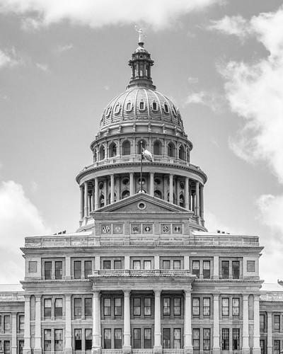 Texas State Capitol B&W Portait #jcutrer