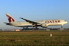 Qatar Airways Cargo  Boeing 777-FDZ A7-BFD (widebodies) Tags: liege lüttich lgg eblg widebody widebodies plane aircraft flughafen airport flugzeug flugzeugbilder qatar airways cargo boeing 777fdz a7bfd
