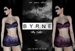 (BYRNE) TillyOutfitAD-Hot (ByrneDarkly-www.tartiste.wordpress.com) Tags: thedarknessmonthlyevent byrne satin lace intimates mesh fashion