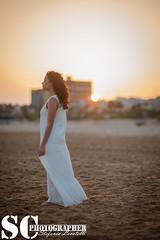 A Walk Down The Seaside (SCarusophotographer) Tags: girl photo photoshoot beach sea sunset sun color sicilianphotographer italianphotographer tramonto ragazza spiaggia sole colori mare
