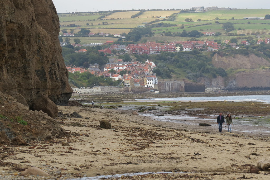 Robin Hoods Bay from Boggle Hole 3