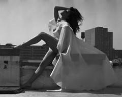 Fun with the Contax TVSii (Film..Grain) Tags: ilford400 film 35mm portrait model black bnw woman r5 monobath contax tvsii opticfilm8100