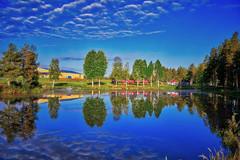 Röda viken (johan.bergenstrahle) Tags: 2018 autumn finepicsse hdr landscape landskap morgon morning natur reflection summer sverige sweden sommar vännäs höst september