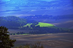 summer moods (JoannaRB2009) Tags: summer mood nature landscape view green blue hills trees paths hesse hessen germany deutschland