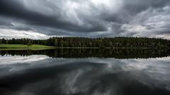 Lake Ommen (tonyguest) Tags: clouds trees reflections lake ommen water still tindered sverige sweden tonyguest stockholm nature symmetry sky sjö sjön