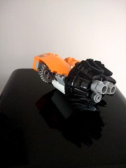 SHIPtember 2018 WIP: Day 3, Engine (Harding Co.) Tags: lego space spaceship shiptember cargo freighter ship big long orange white grey pods minifigure flight flying vehicle wip progress diary engine