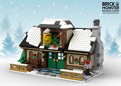 Winter Village 2018 - Cafe (BrickMonster) Tags: lego legomoc legos winter village christmas city instructions