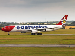 Edelweiss Air | Airbus A340-313 | HB-JMD (Bradley's Aviation Photography) Tags: egsc cbg cambridge cambridgeairport airlivery marhsalls swiss edelweissair hbjmd a340 a343 a340300 airbusa340313 canon70d airbus airbusa340 edelweiss aircraft air aviation airplane airport aeroplane plane planespotting flying