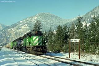 MRL November 1993 at Cyr, MT