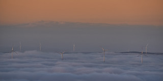 Windfarm over the Clouds