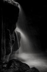 Darkness Falls (Captain Nikon) Tags: lumsdale lumsdalefalls derbyshire matlock waterfalls fineart blackandwhite longexposure srb6stopndfilter darkness moody england