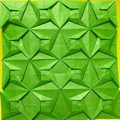 (kz_miu910) Tags: おりがみ 折纸 摺紙 折り紙 origamitessellations origami tessellations