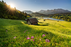 Sunrise at lake Geroldsee (Alexander Lauterbach Photography) Tags: deutschland germany bayern bavaria gerold geroldsee see lake sunrise sunstar sony a7rii landscape nature spring
