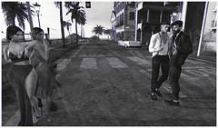 Fear lasts longer than love. (MATTY // *OMG*) Tags: sl secondlife vintage photo photography bw blackwhite old avatar 3d world art virtual mesh style dope