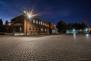 Grängesberg station by night