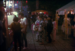 17th Bon-odori (threepinner) Tags: mikasa hokkaidou hokkaido northernjapan japan festival evening canon av1 nfd 50mm f14 negative iso100 selfdeveloped reversal negaposidevelopment 三笠 北海道 盆踊り 北日本 日本