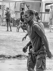 Mudder (clarkcg photography) Tags: mud volleyball male man mudvolleyball wet blackwhite blackandwhite bw portrait sport candid capture