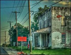 Evening in Walnut Grove.... (Sherrianne100) Tags: dilapidated derelict abandoned oldbuilding fleamarket smalltown walnutgrovemissouri missouri