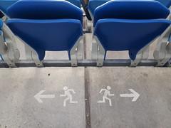 Divorce (Istvan) Tags: blue pictogram újhidegkutinándorstadion