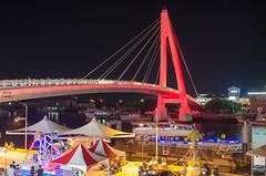 淡水 (尼維雄小) Tags: 淡水 情人橋 夜景 橋 newtaipei nikon d7000 2470mm bridge