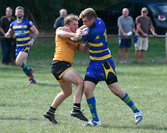 Standing up well (Steve Barowik) Tags: yorkshire westyorkshire nikond500 barowik leeds ls26 stevebarowik sbofls26 rugbyleague rl nationalleague 70200mmf28gvrii sport competition try conversion penalty sinbin referee linesman ball pitch sticks posts team watercarrier dx cropframe kick pass offload dropkick forwardpass centre wing prop forward back fullback unlimitedphotos wonderfulworld quantumentanglement oultonraiders skirlaugh nationalconferencedivisionone