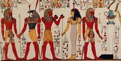 Reproducción en acuarela de una pintura mural de la tumba de Seti I, en el Valle de los Reyes (Egipto) (Pedro Montesinos Nieto) Tags: pinturas egipto faraones oneplus6 acuarelas setii valledelosreyes arteegipcio