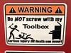 Don't Screw With My Toolbox (rabidscottsman) Tags: minnesota mn injury tools wrench stayoutofmytoolbox violence workplaceviolence workplace toolbox work fighting danger warning stickfigures sign scotthendersonphotography iphone appleiphone iphone8 geotagged