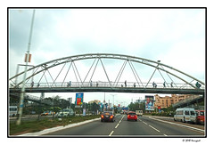 walking bridge (harrypwt) Tags: harrypwt city africa afrika fujix70 x70 ghana accra street people road