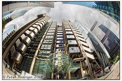 Lloyds Building London (Antirrhinum) Tags: lloyds building city london steel fisheye