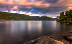 Evening delight (nunoborges73) Tags: clouds lake norge norway sky summer water sunset dusk longexposure mountains lakeside