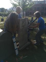 350th September Celebration - Conservation Work in Progress (Spirits Alive at the Eastern Cemetery) Tags: mountfort janet nikki martha dave 350th easterncemetery spiritsalive byhdoggett 2018 20180915
