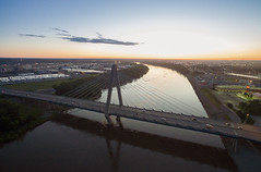Sunrise Kansas City (Kevin VanEmburgh Photography) Tags: above bondbridge dji downtown drone flight kansascity kc kcmo kevinvanemburghphotography rivermarket missouri unitedstates us sunrise firstlight bridge landscape