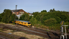 950001 at Burton Wetmore (robmcrorie) Tags: warehouse ale pedigree marston's burton etmore test train 950001 class 150 sprinter staffordshire trent wetmore nikon d850 rail railway enthusiast railfan