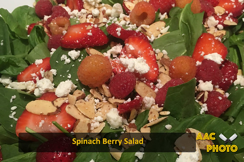 "Spinach berry Salad • <a style=""font-size:0.8em;"" href=""http://www.flickr.com/photos/159796538@N03/30272580608/"" target=""_blank"">View on Flickr</a>"