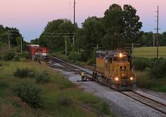 The Marquette Shuffle (GLC 392) Tags: scottville mi michigan mqt marquette rail railroad train emd gp40x gp382 2042 4056 dush blue hour tpw toledo peoria western eagle crew