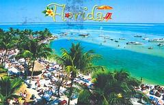 31 AmandaLasen (Rocky's Postcards) Tags: florida holidayisle postcard amandalasen resort boats palmtrees