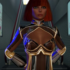 Portrait in R2 (Myra Wildmist) Tags: secondlife sl myrawildmist virtualart virtualphotography virtualworlds ssoc scifi future r2